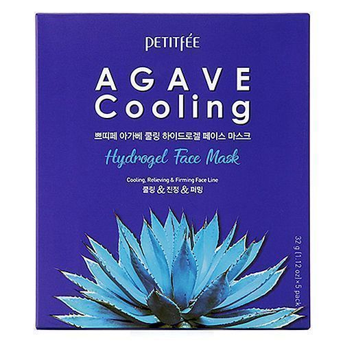 Petitfee - Маска для лица c агавой (Agave cooling hydrogel face mask) 32г*5шт