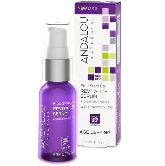 Andalou Naturals Fruit Stem Cell Revitalize Serum - Восстанавливающая сыворотка Ресвератрол и  Q10 32 мл