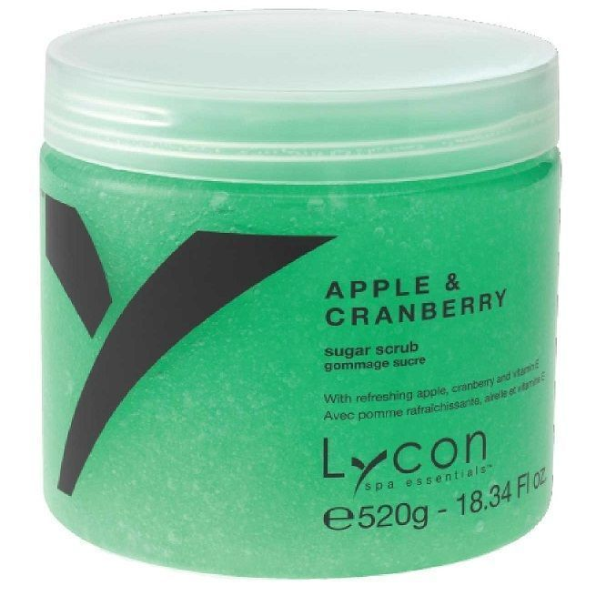 Lycon Apple & Cranberry Sugar Scrub - Скраб для тела яблоко и клюква 520 гр